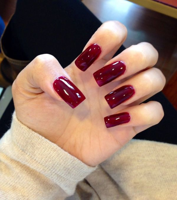 nail màu đỏ mận