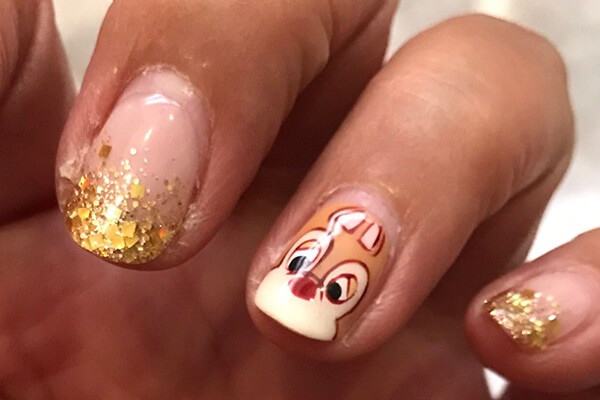 Chip and Dale nail cute